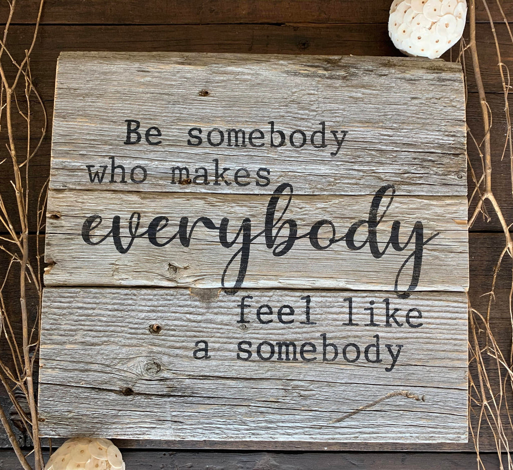 be somebody DIY wood sign craft kit