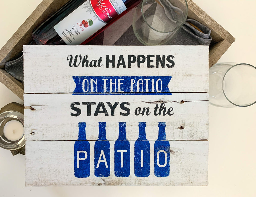 Patio Entry Wood Sign - Rustic Wood Sign Craft Kit