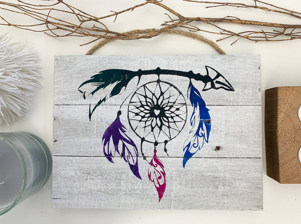 Dreamcatcher Whitewashed Wall Decor for Kids or Bedroom