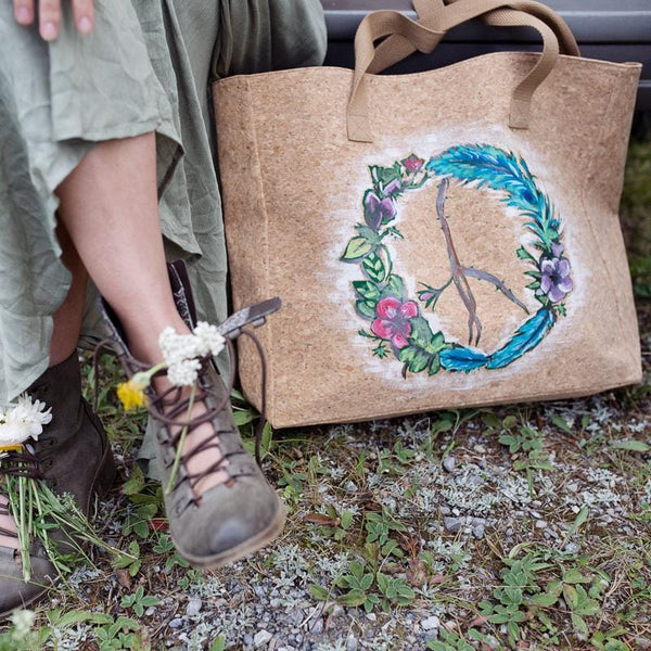 Peace Wreath Cork Leather Tote Craft Kit