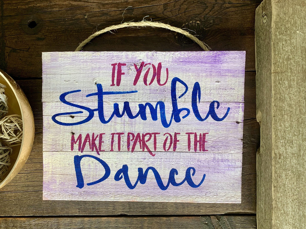 Dance Rustic Farmhouse Cottage Wood Sign - Girls Room