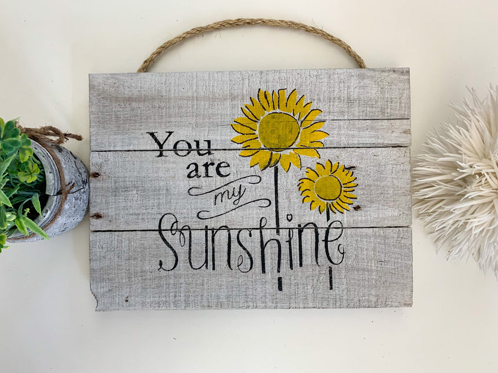 You are my Sunshine Reclaimed Wood Sustainable Decor Craft Kit
