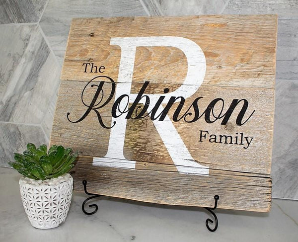 Custom Family Name Rustic Sign Craft Kit