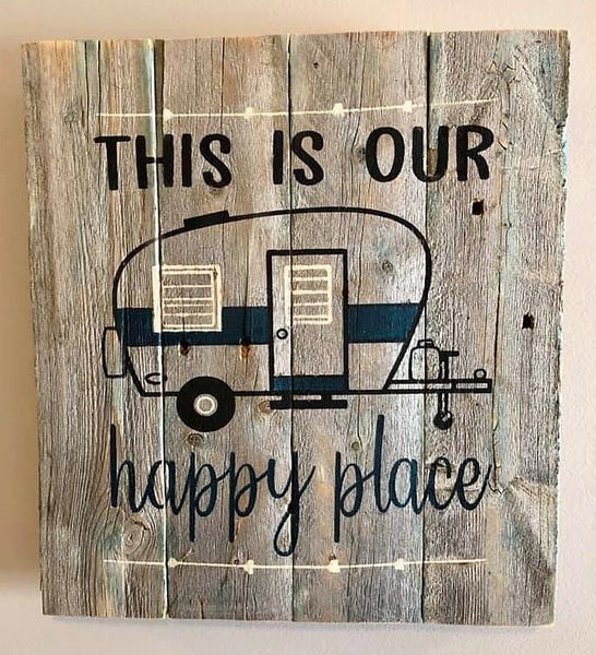 Happy Place (Camper)  Rustic Sign Craft Kit