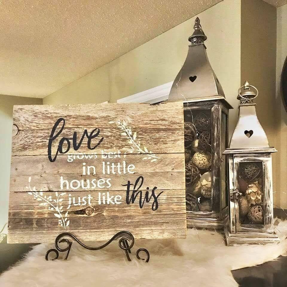 Little Houses Cottage Farmhouse Rustic Gray Sign