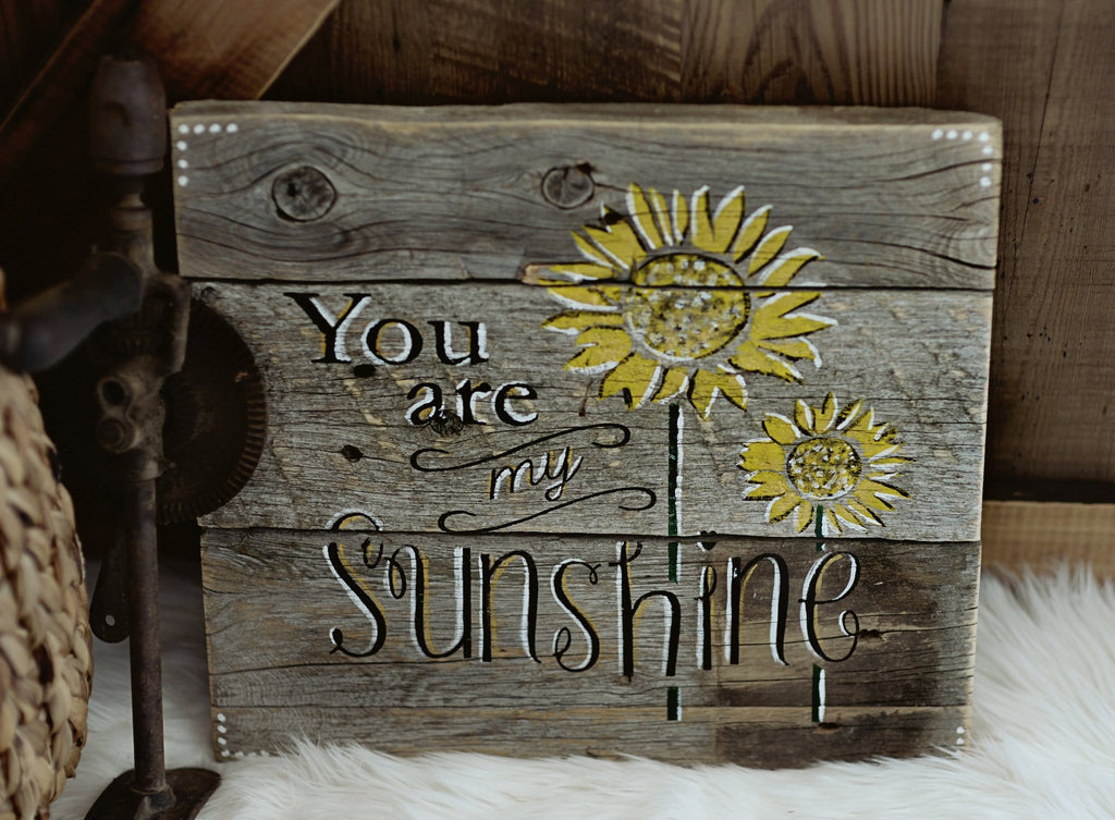 My Sunshine Rustic Wooden Sign