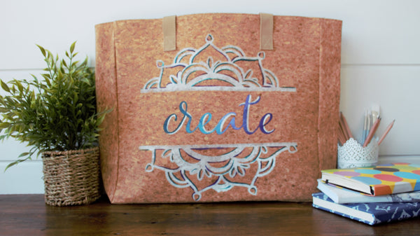 """Create"" Cork Leather Tote Craft Kit"