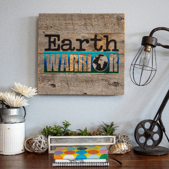 Earth Warrior - Rustic Farmhouse Wooden Sign Craft Kit