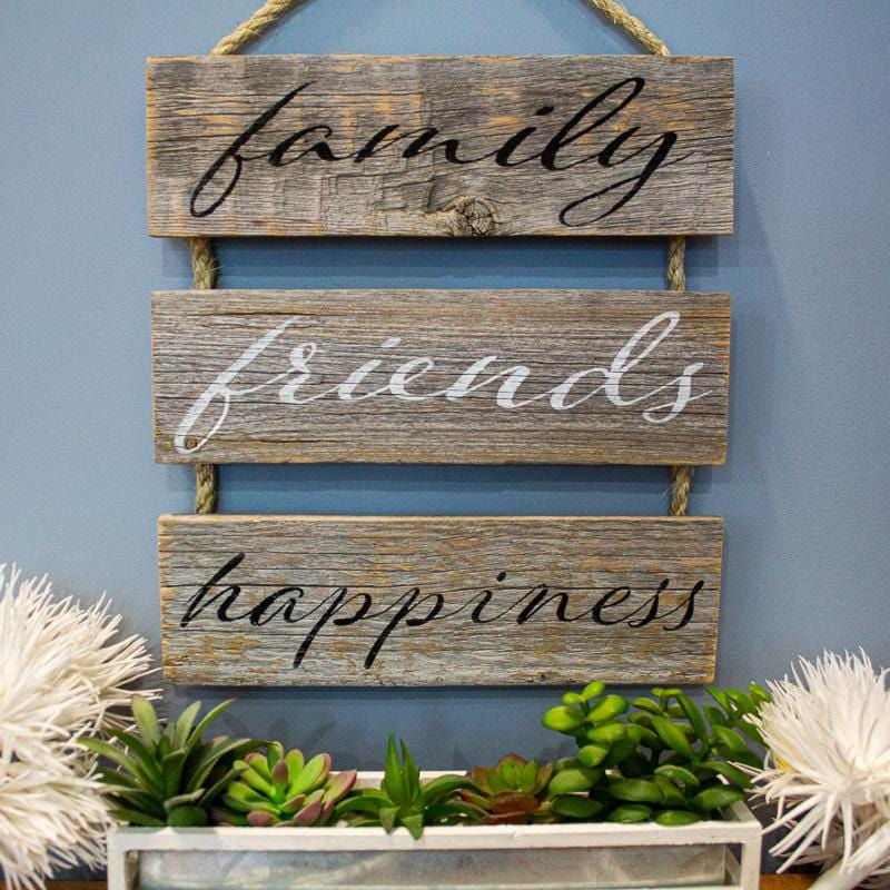 family friends happiness - Rustic Sign Craft Kit