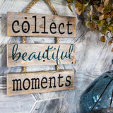 """Collect Beautiful Moments"" Gray Rustic Ladder Sign Craft Kit"