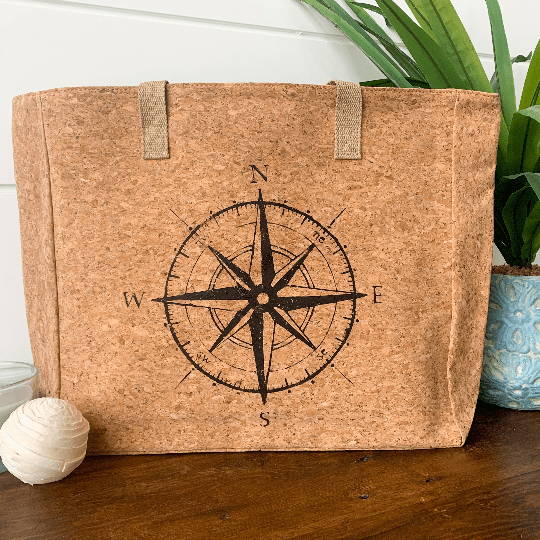 Compass Cork Leather Tote Craft Kit