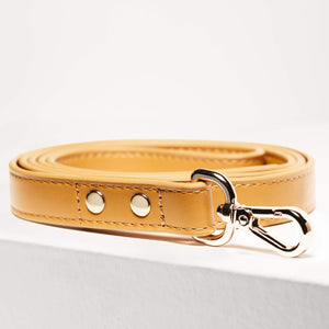 St Argo Vegan Leather Mustard Dog Lead