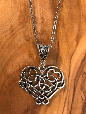 Celtic Infinity Knot Heart Necklace