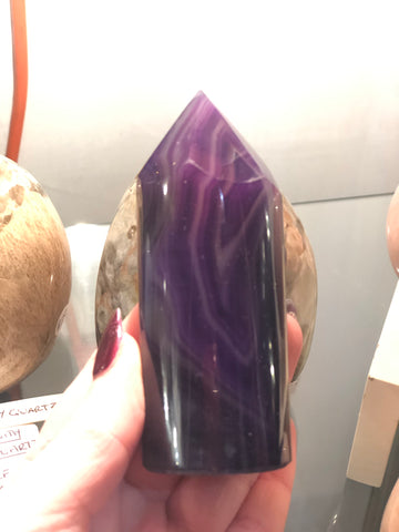 Agate cylinder - purple