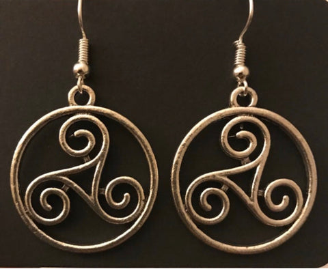 Celtic Triskelion Earrings