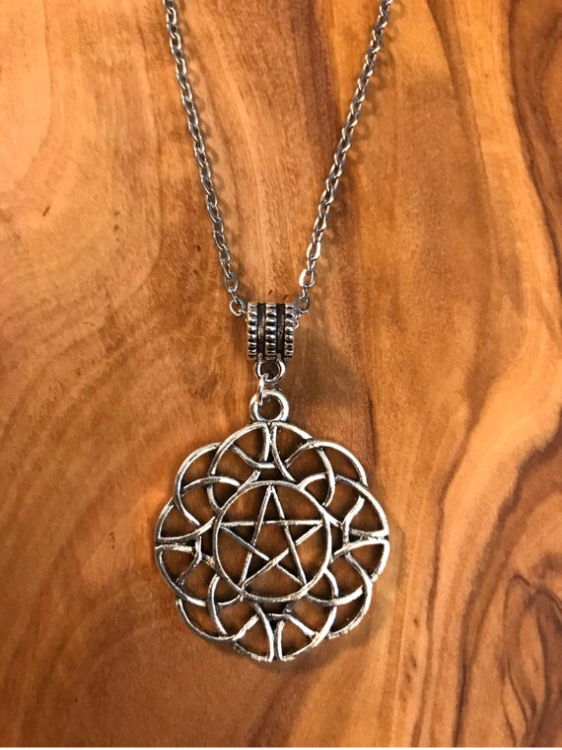 Pentagram in Celtic Infinity Knot Necklace