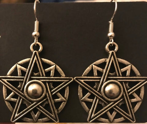 Pentagram Star Earrings