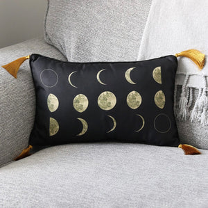 Moon Phases rectangle cushion
