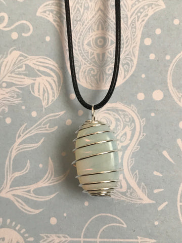 Opalite Spiral Necklace
