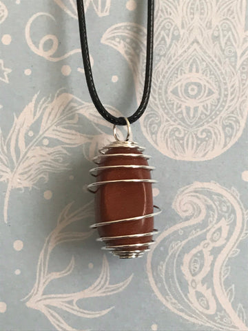 Goldstone Spiral Necklace