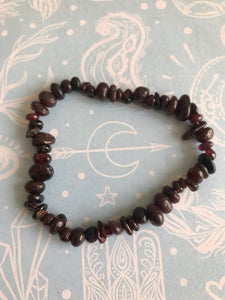 Blood Garnet Chip Bracelet