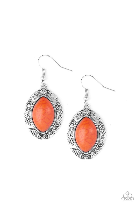 Aztec Horizons - Orange Earrings