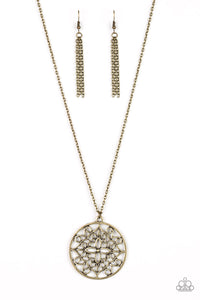 Mandala Melody Brass Necklace