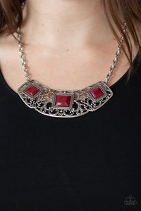 Feeling Inde-PENDANT - Red Necklace