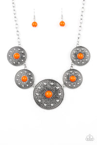 Hey, SOL Sister - Orange Necklace