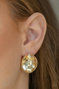 Movie Star Sparkle - Gold Earrings