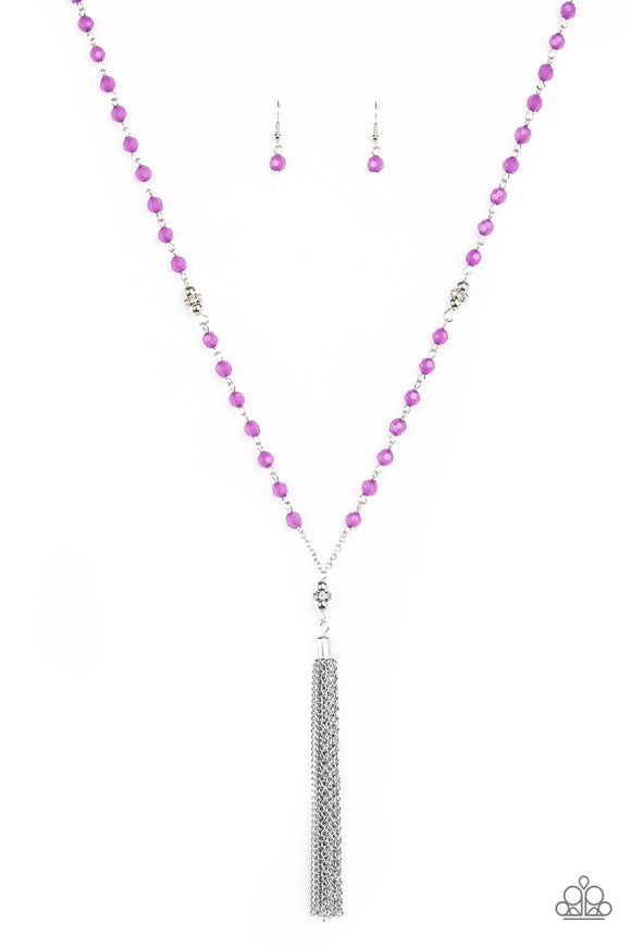 Tassel Takeover - Purple Necklace