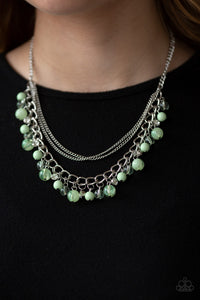 Wait and SEA - Green Necklace