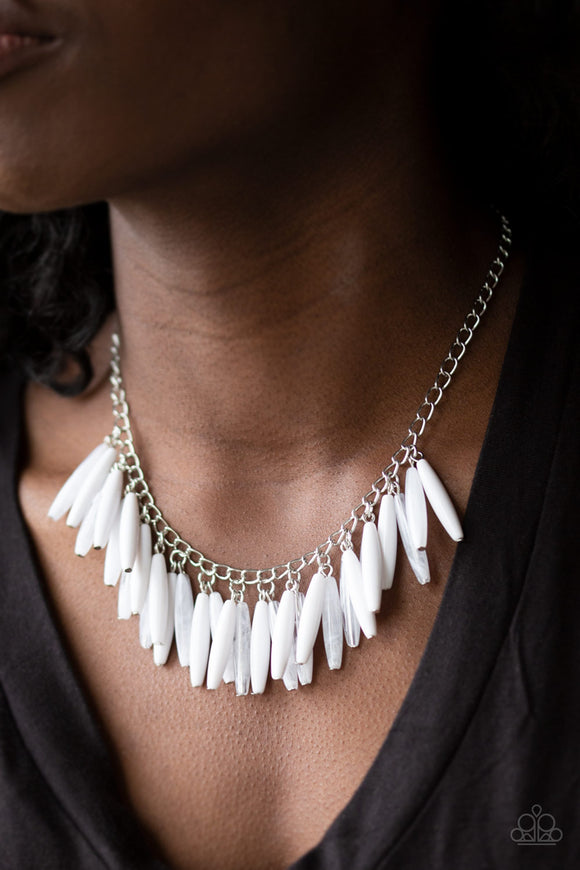Full Of Flavor - White Necklace