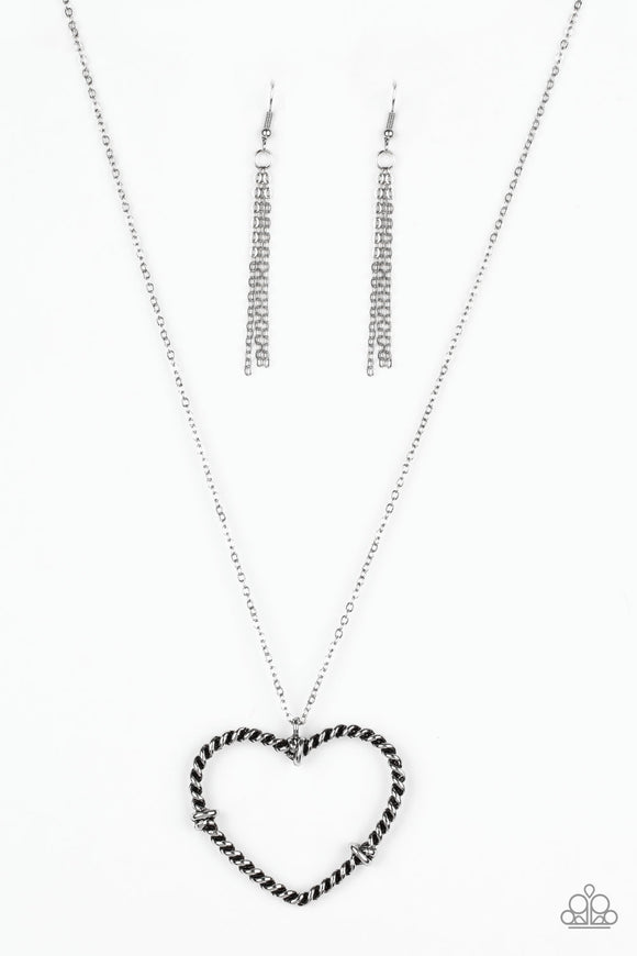 Straight From The Heart Silver Necklace