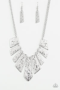 Texture Tigress - Silver Necklace
