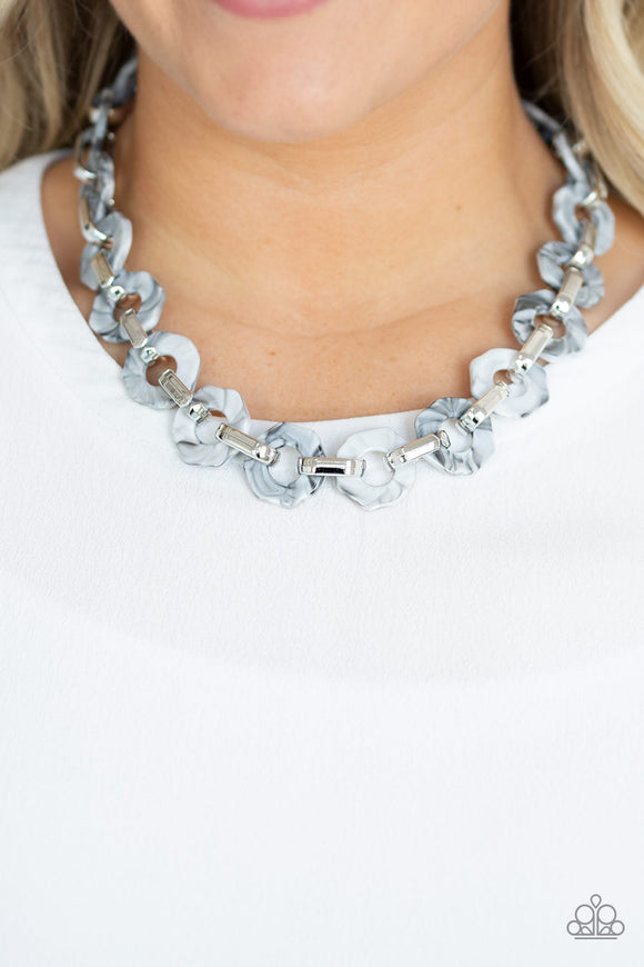 Fashionista Fever - Silver Necklace