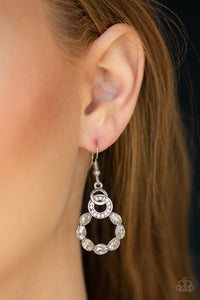 Diamond Deluxe - White Earrings