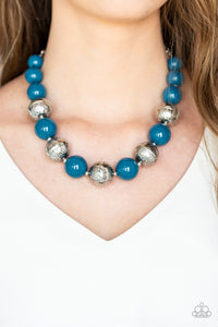 Floral Fusion - Blue Necklace