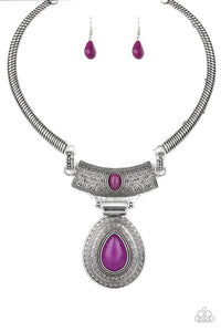 Prowling Prowess - Purple Necklace