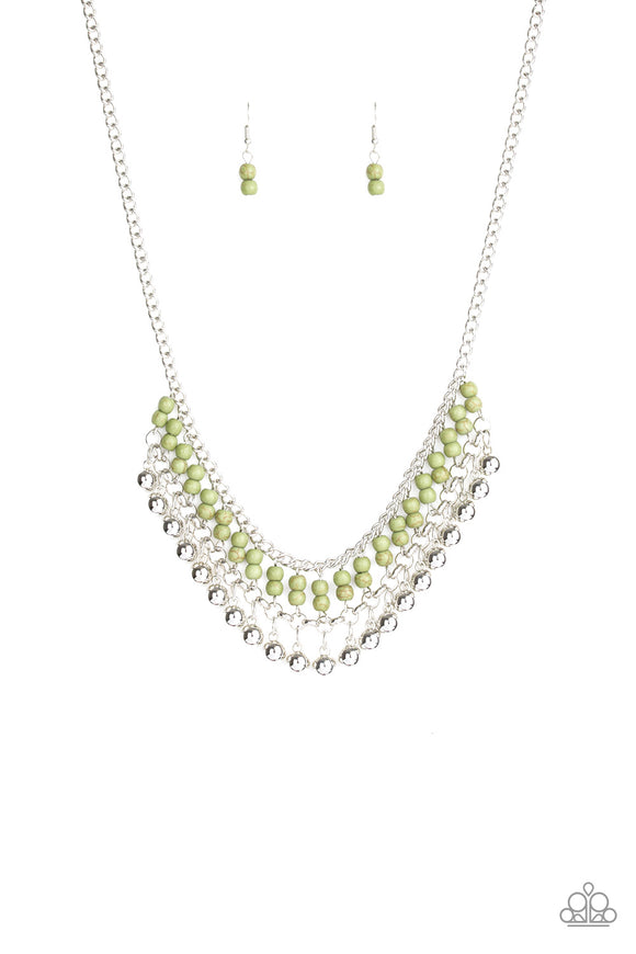 Beaded Bliss - Green Necklace