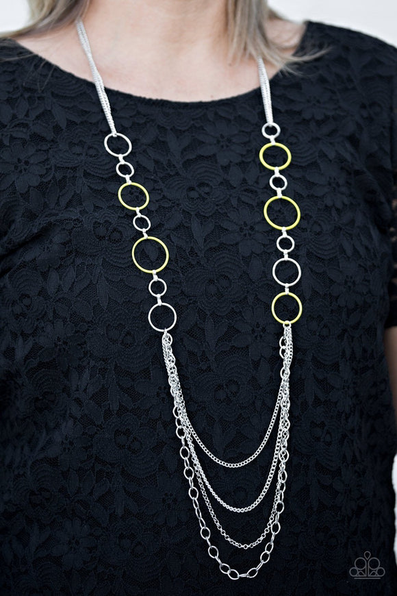 Beautifully Bubbly - Yellow Necklace