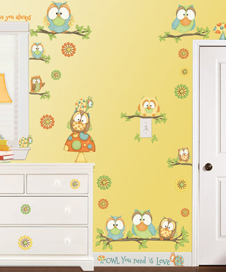 Who's Hoo Wall Decals