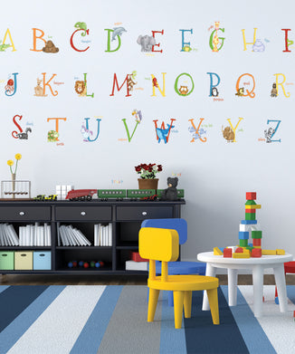 Alphabet Animals A-Z Wall Decals