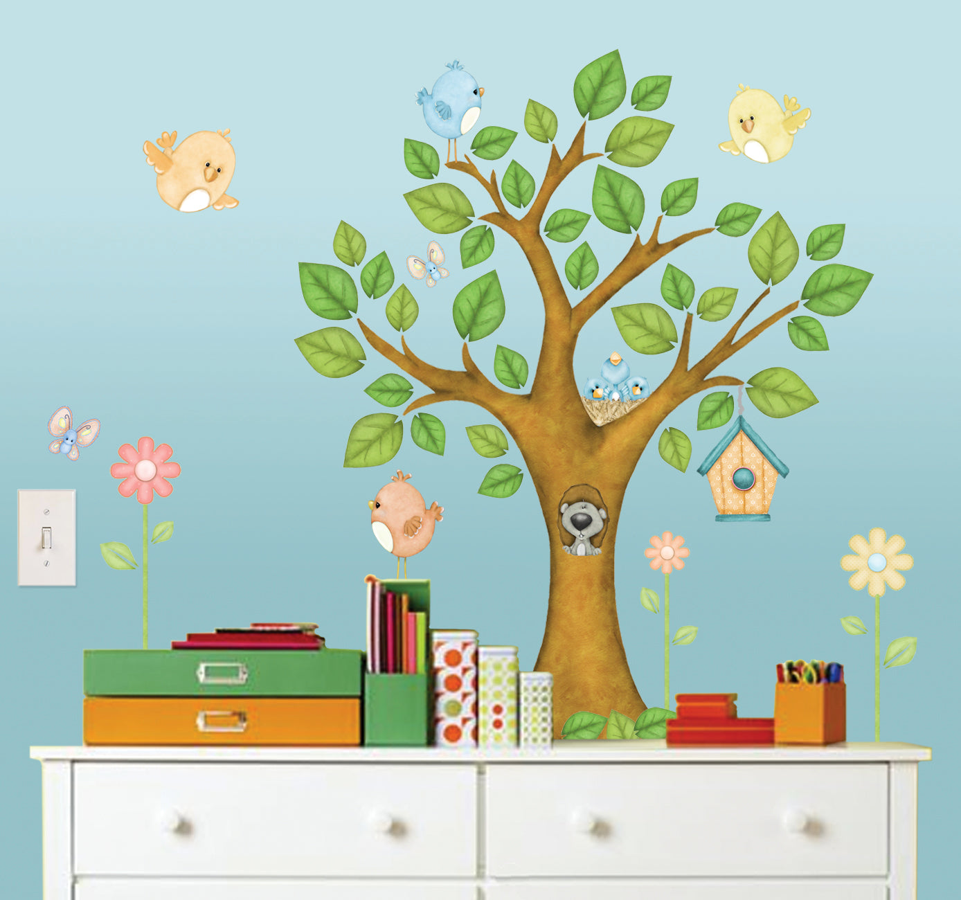 On the Tree Top Wall Decals