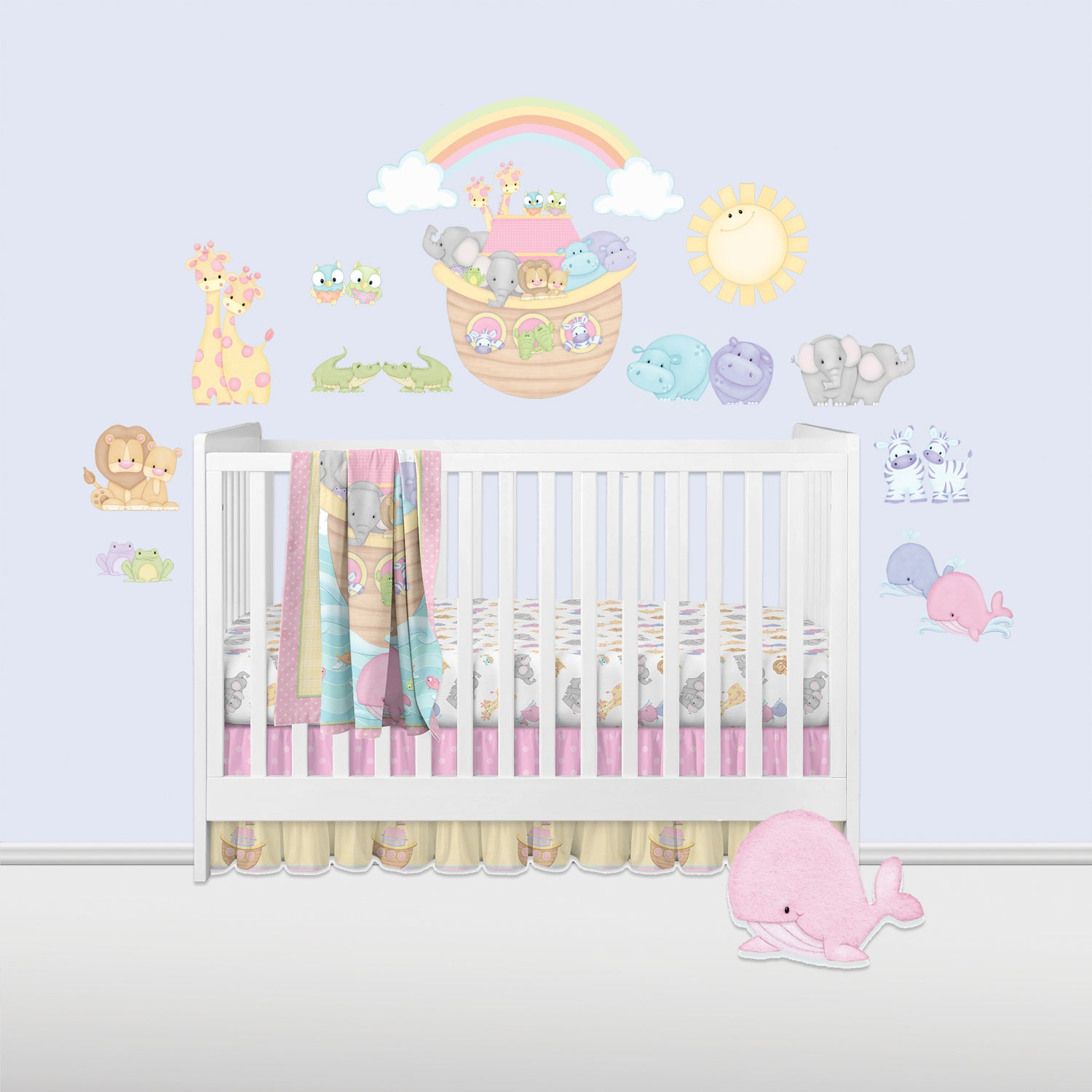 Noah's Pastel Pairs (Pink) Wall Decals