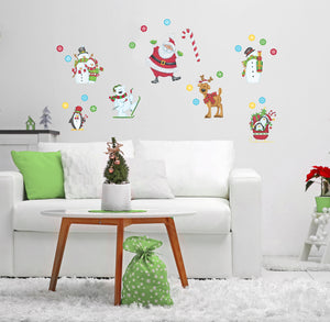 Santa & Friends Decal Set
