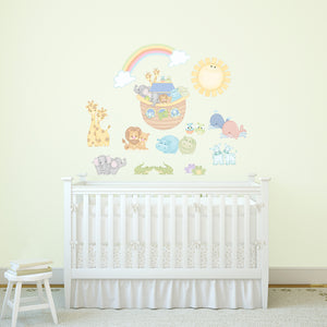 Noah's Blue Pastel Pairs Wall Decals