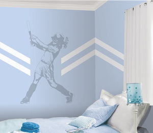 Softball Hitter Sudden Shadow Wall Decal