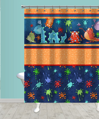 Monster Splat Shower Curtain