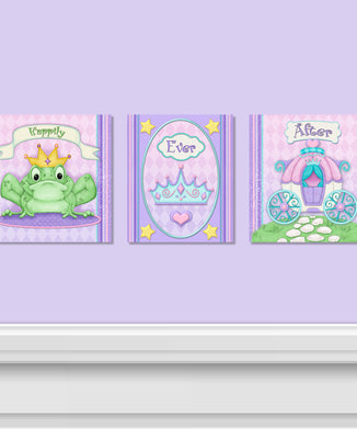 Princess Camryn 3 PC Canvas Wall Art Set